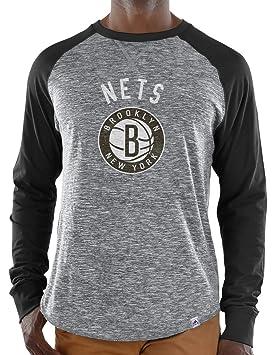 """Brooklyn Nets Majestic de la NBA """"exposición"""" hombres camisa de manga larga gris"""