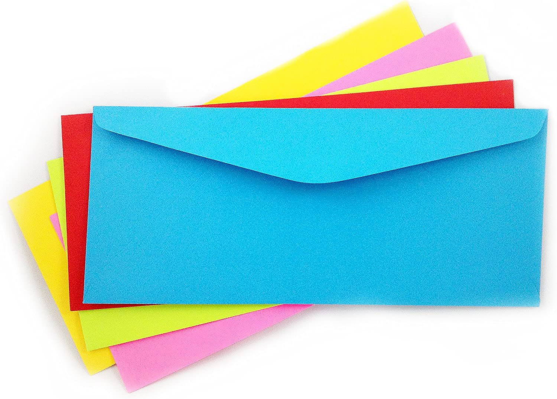 Best 10 Envelopes Bright Multi Color 5 Pack  Color Pack 50 Envelopes Xmas Gift