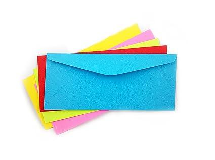 amazon com 10 envelopes bright colors multi color pack envelope