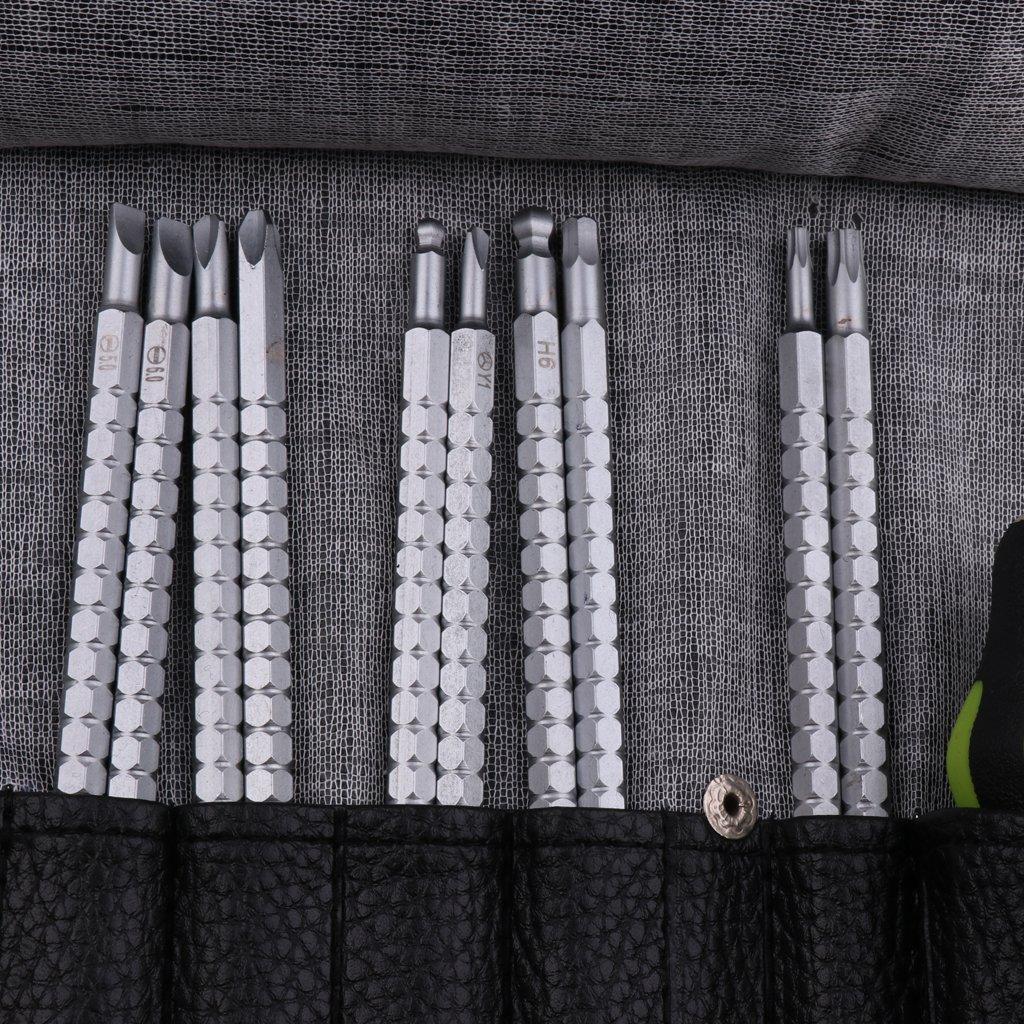 Sharplace Jeu de Tournevis Multi-Embouts Avec 10 Pi/èces de Rod Et Poign/ée 1 pi/èce Pour R/éparation Bricolage