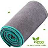 DubeeBaby Non Slip Absorbent Microfiber Hot Yoga Towel for Yoga Mat 24x72 inch