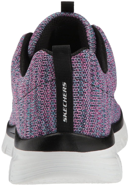 Skechers Women's Graceful-Twisted Fortune Sneaker B07B5J8C7P 6 B(M) US|Black/Multi
