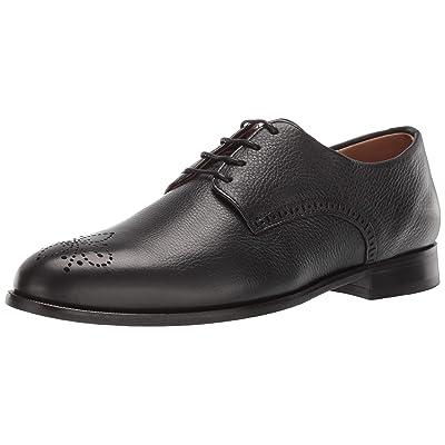 MARC JOSEPH NEW YORK Mens Leather Lace-Up Wingtip Dress Shoe Oxford, Black Grainy, 9 M US | Oxfords
