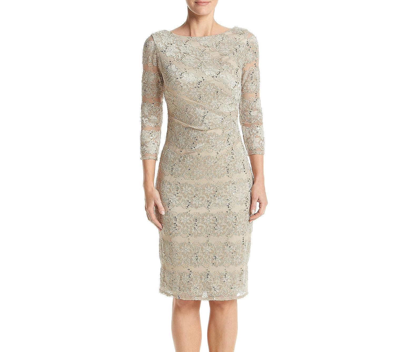0655b2f4 Jessica Howard Sequin Lace Sheath Dress at Amazon Women's Clothing store: