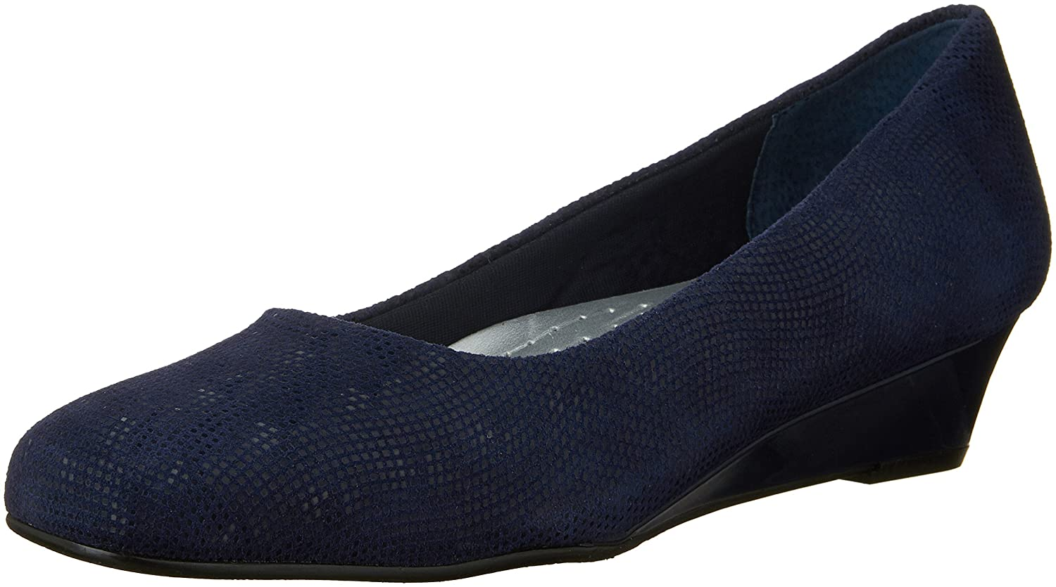 Trotters Women's Lauren Dress Wedge B00LMH0KL4 11 W US|Navy Suede