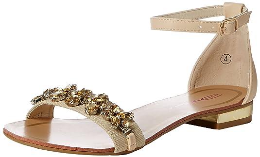 Tiara, Damen Sandalen, Beige - Beige (Nude) - Größe: 37 Dolcis