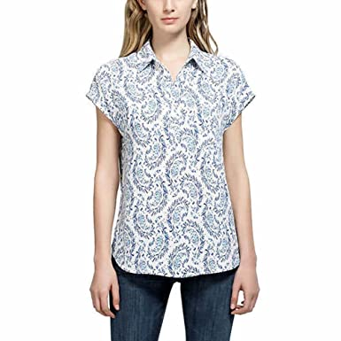 1bbbe6c82212d Pleione Ladies  Short Sleeve Blouse  Amazon.co.uk  Clothing
