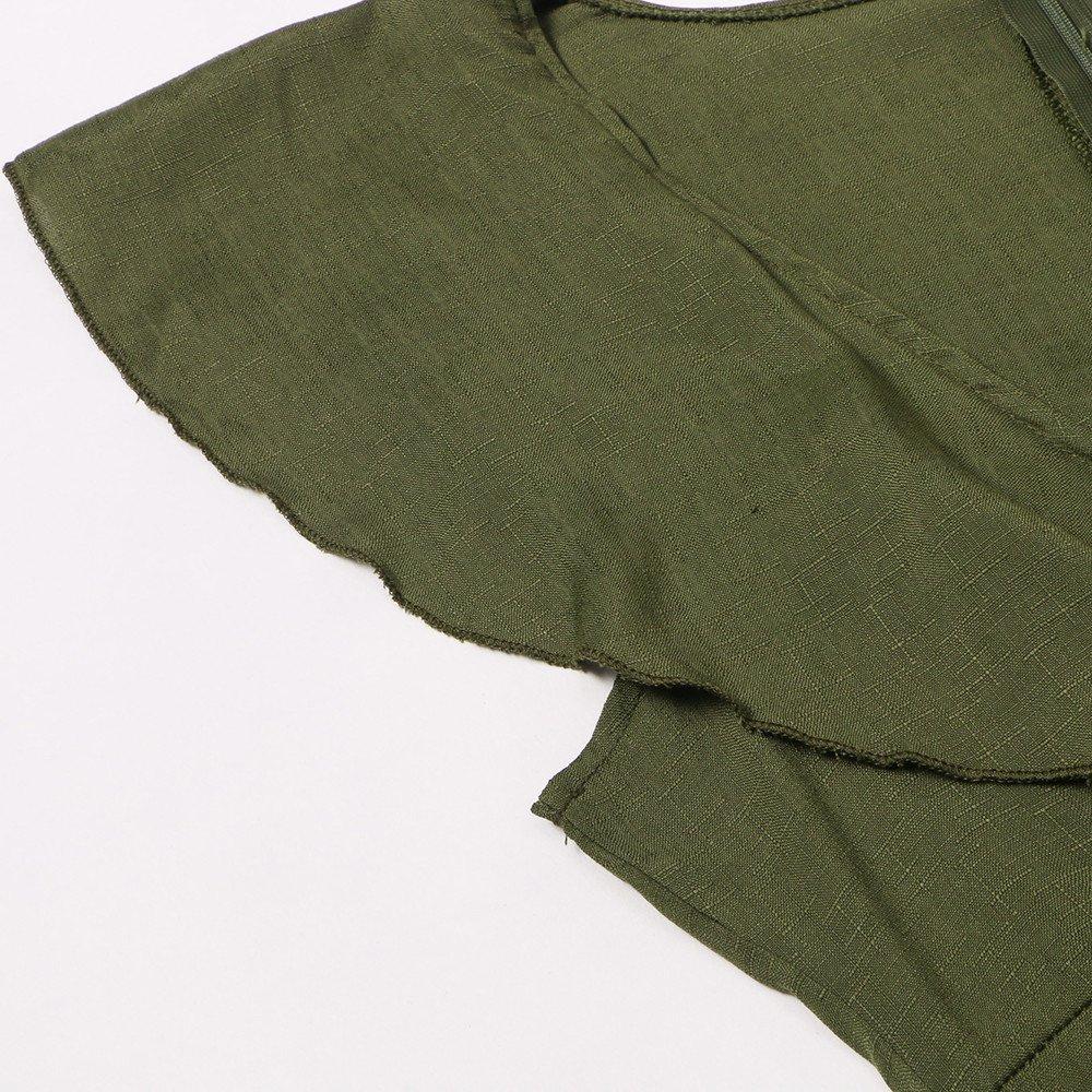 Mono para mujer fiesta Pantalones,Mono Largo Casual Manga Flounce Pantalones Piernas Anchas Suit Traje Dama para Boda Verano
