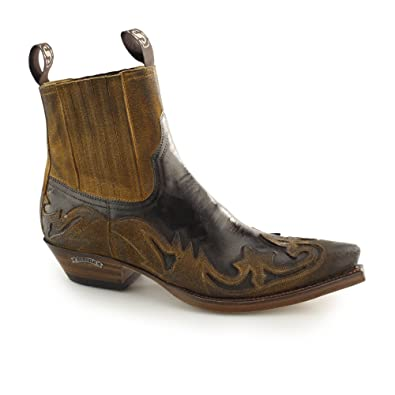 e06f7ed141e Sendra 4660 Mens Leather Pointed Cuban Heel Cowboy Boots Brown/Tan ...