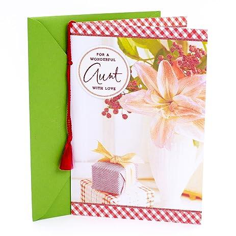 Amazon hallmark christmas greeting card to aunt from niece or hallmark christmas greeting card to aunt from niece or nephew m4hsunfo Gallery