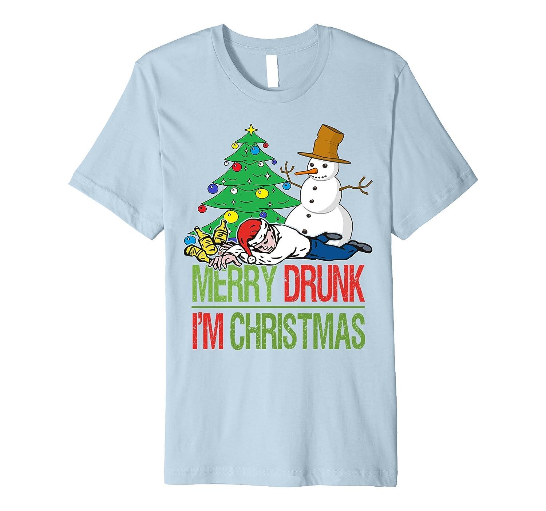merry drunk im christmas funny premium t shirt anz - Merry Drunk Im Christmas