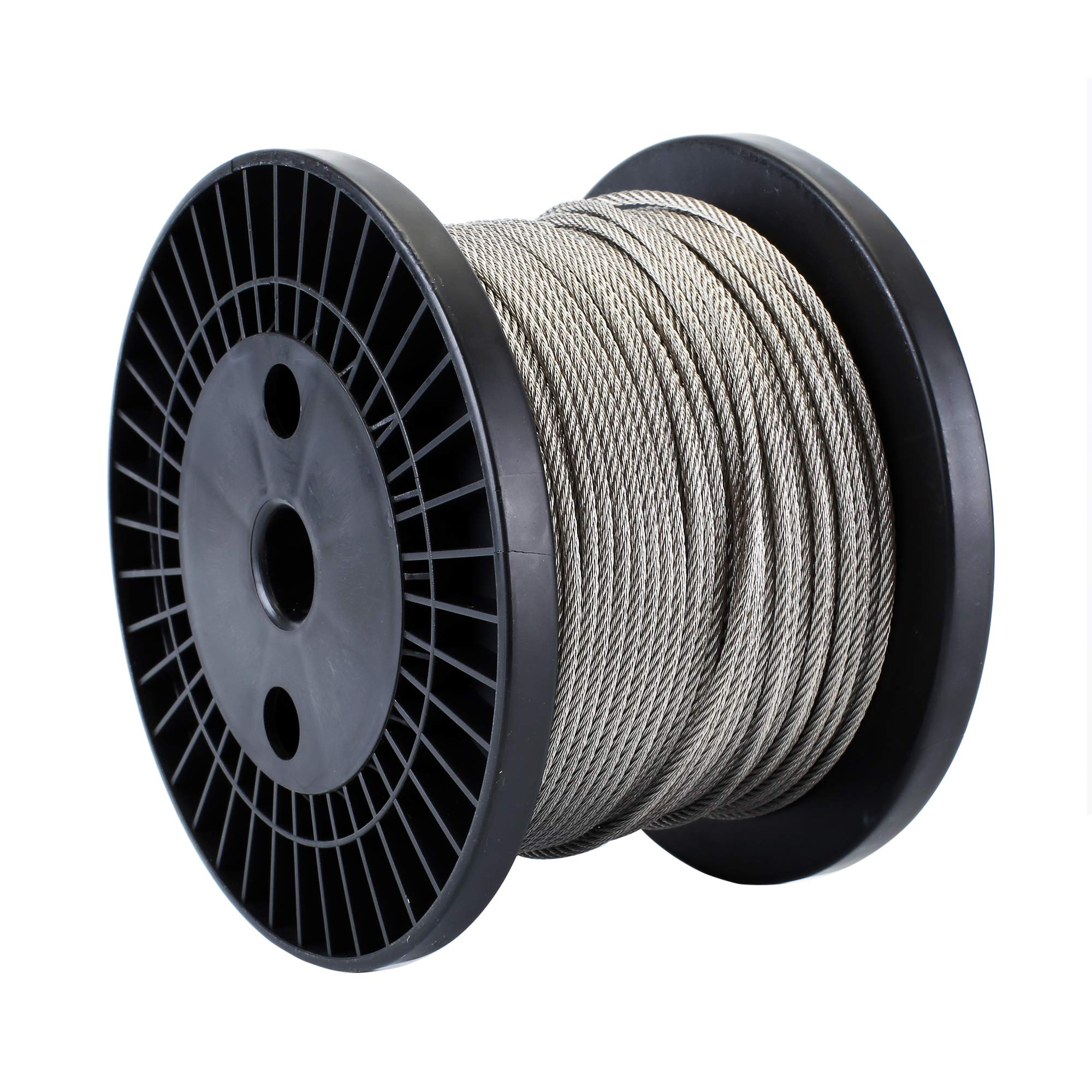Zoostliss 200Ft Stainless Steel Aircraft Wire Rope 1/8'' for Deck Cable Railing Kit, 7x7 T316 Marin Grade by Zoostliss (Image #1)