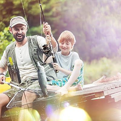 Portable Lightweight Carbon Fiber Fishing Rod Outdoor Freshwater Fishing Pole UK