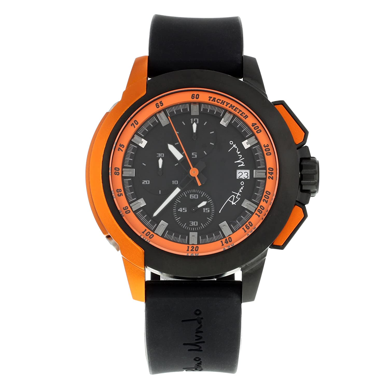 Ritmo Mundo Quantum II 1151-3 Stahl & Aluminium Quarz Herren-Armbanduhr