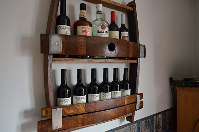 Amazoncom Full Wine Barrel Wine Rack Reclaimed Wine Barrel