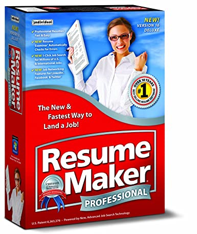 Amazoncom Resumemaker Professional Deluxe - Resume maker professional