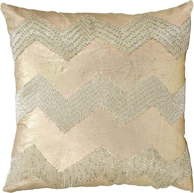 Orchid The Pillow Collection P18-VF-ARTISTIC-ORCHID-P76C24 Malu Zigzag Pillow