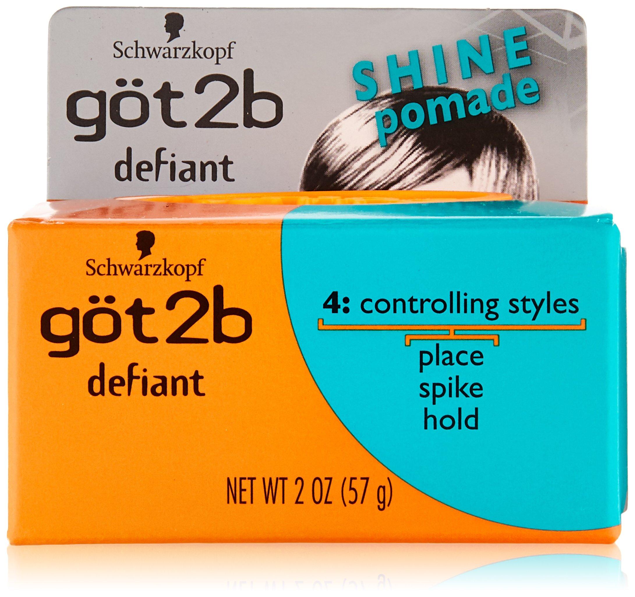 Got2b Defiant Define And Shine Pomade 2 Ounce Pack Of Oilbased Medium Hold 55gr Non Label Got 2b 2oz 3
