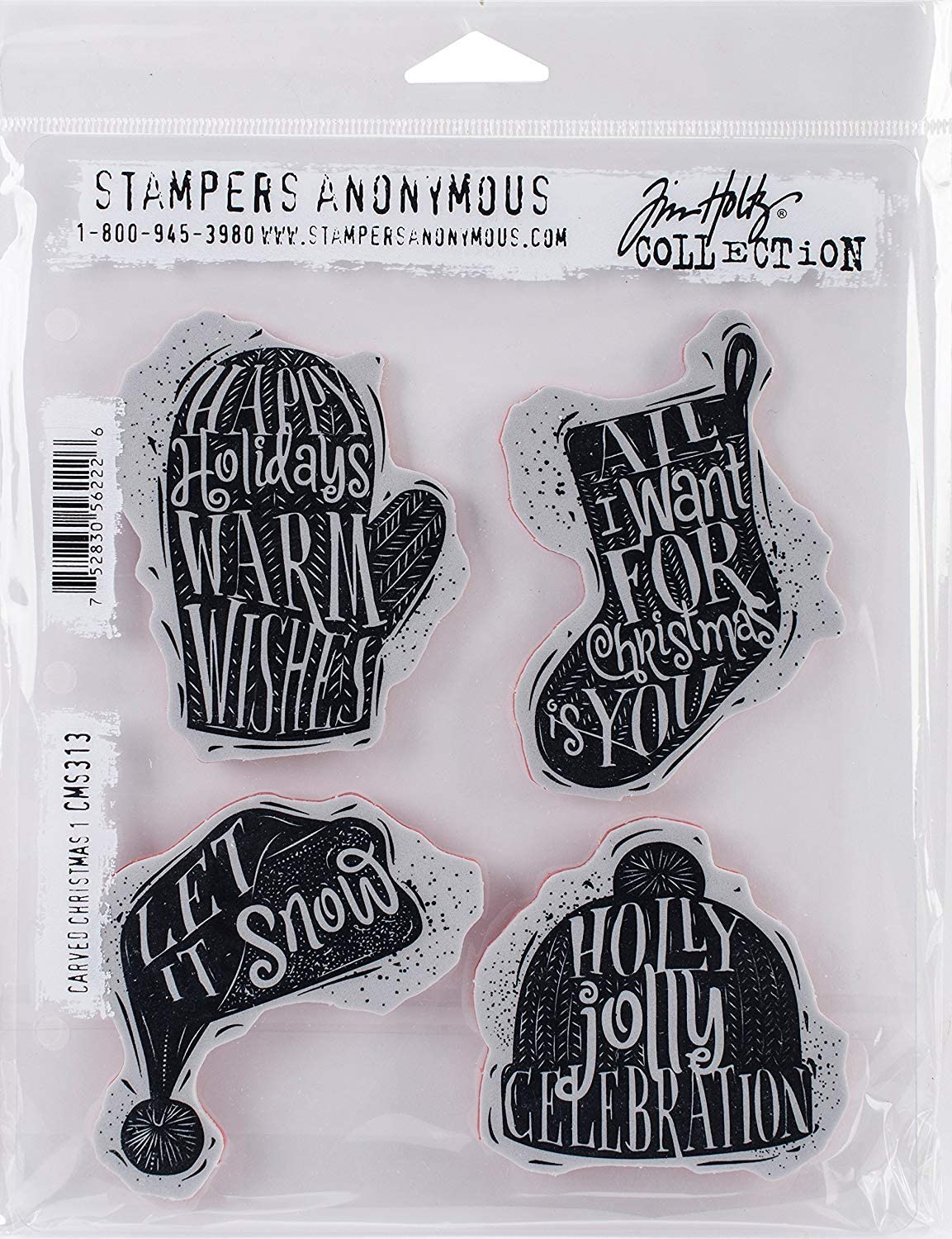 Inch 7 by 8.5 Carved Instruments Stampers Anonymous Tim Holtz Cling Rubber Stamp Set