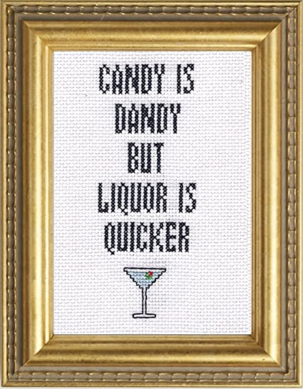 Amazon Subversive Cross Stitchcandy Is Dandy But Liquor Is