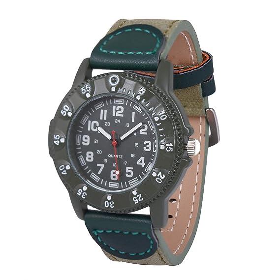 Gaigor Niños Hombres Relojes de Pulsera Deportivos Gran Caja de Reloj de 52mm Verde G004W002