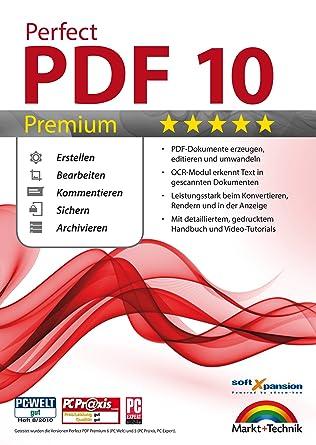 Perfect PDF 10 PREMIUM inkl. OCR Modul PDFs Erstellen, Bearbeiten ...