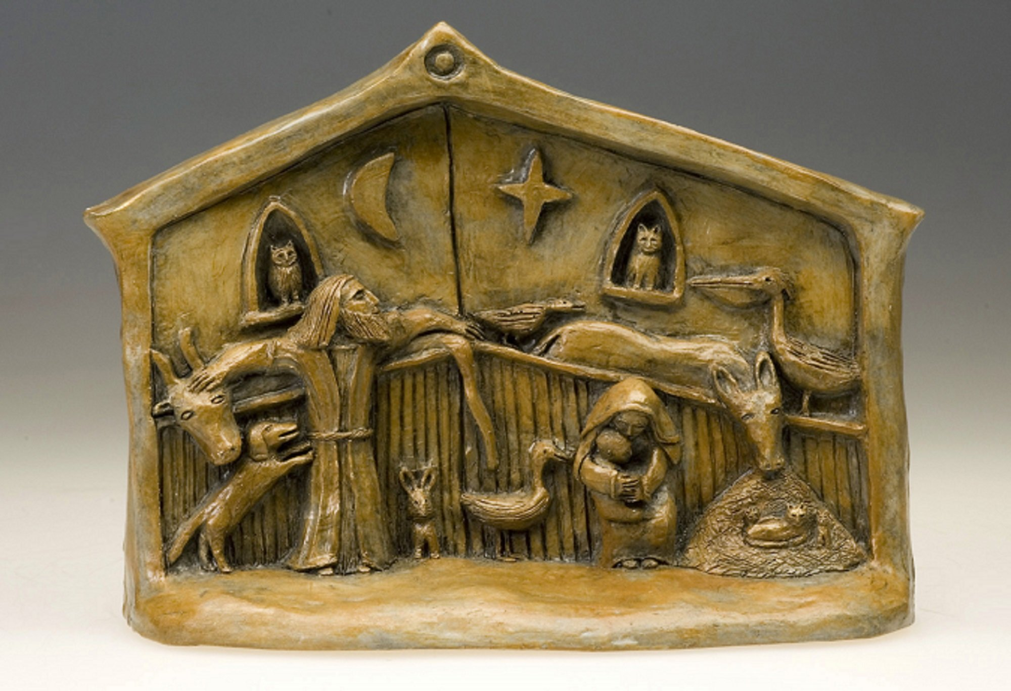 Handmade Nativity with Menagerie (Small Size)