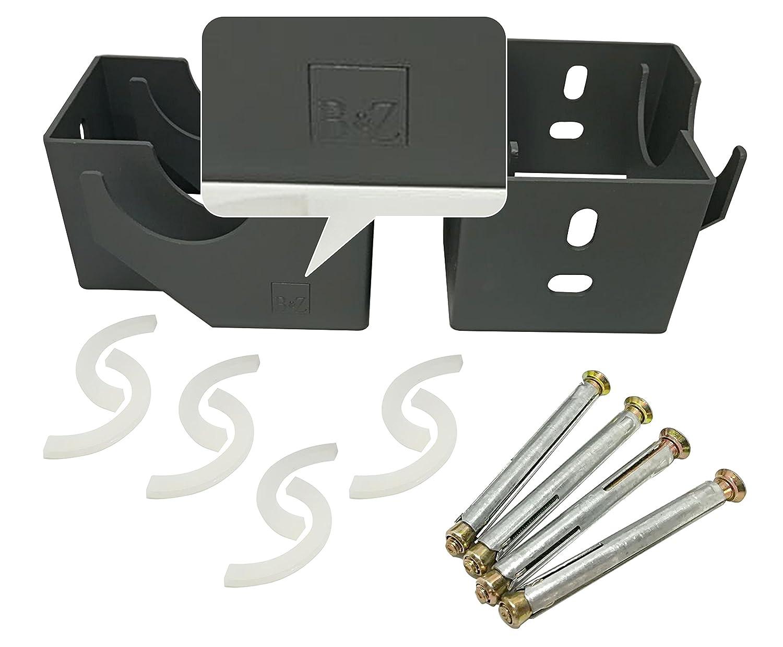 Supports de fixation pour radiateur vertical /à colonne blanc
