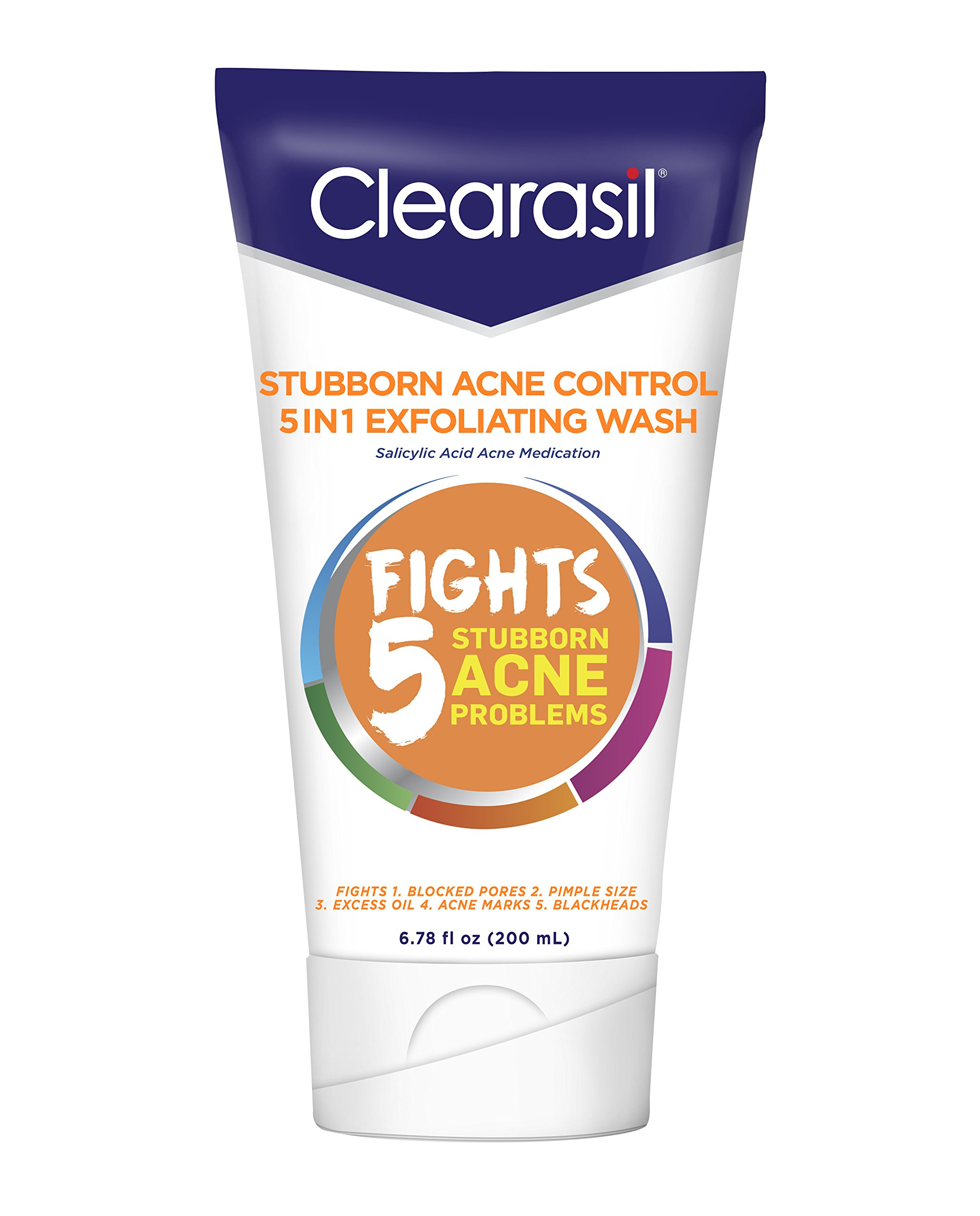 Clearasil Stubborn Acne Control 5in1 Daily Cleansing Face Wipes, 90ct Difiaba Professional Cream Haircolor 6.5 Mahogany