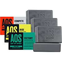 Art of Sport Variety 6pk Body Bar Soap - Try All 3 Fresh Scents - Activated Charcoal Soap with Natural Botanicals Tea…