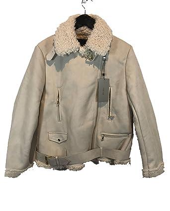 Zara de las mujeres Suede Efecto y cordero chaqueta 5149/222 ...