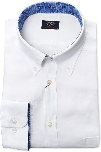 PAUL & SHARK - Camisa Casual - para Hombre Blanco XL: Amazon.es: Ropa y accesorios