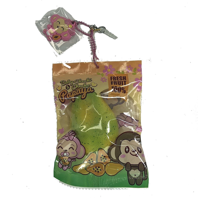Puni Maru Cheeki and Cheeka Mini Papaya Squishies Raw Green