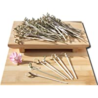 100X Bamboo Knot Skewers Cocktail Sticks Ideal Canape Buffet Party Tableware TYU