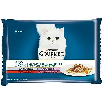 GOURMET Perle repas para Gato Adulto 4 x 85 g Talla & Saveur ...