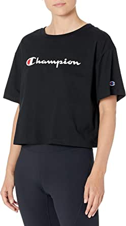 Champion Womens The Cropped Tee Short Sleeve T-Shirt