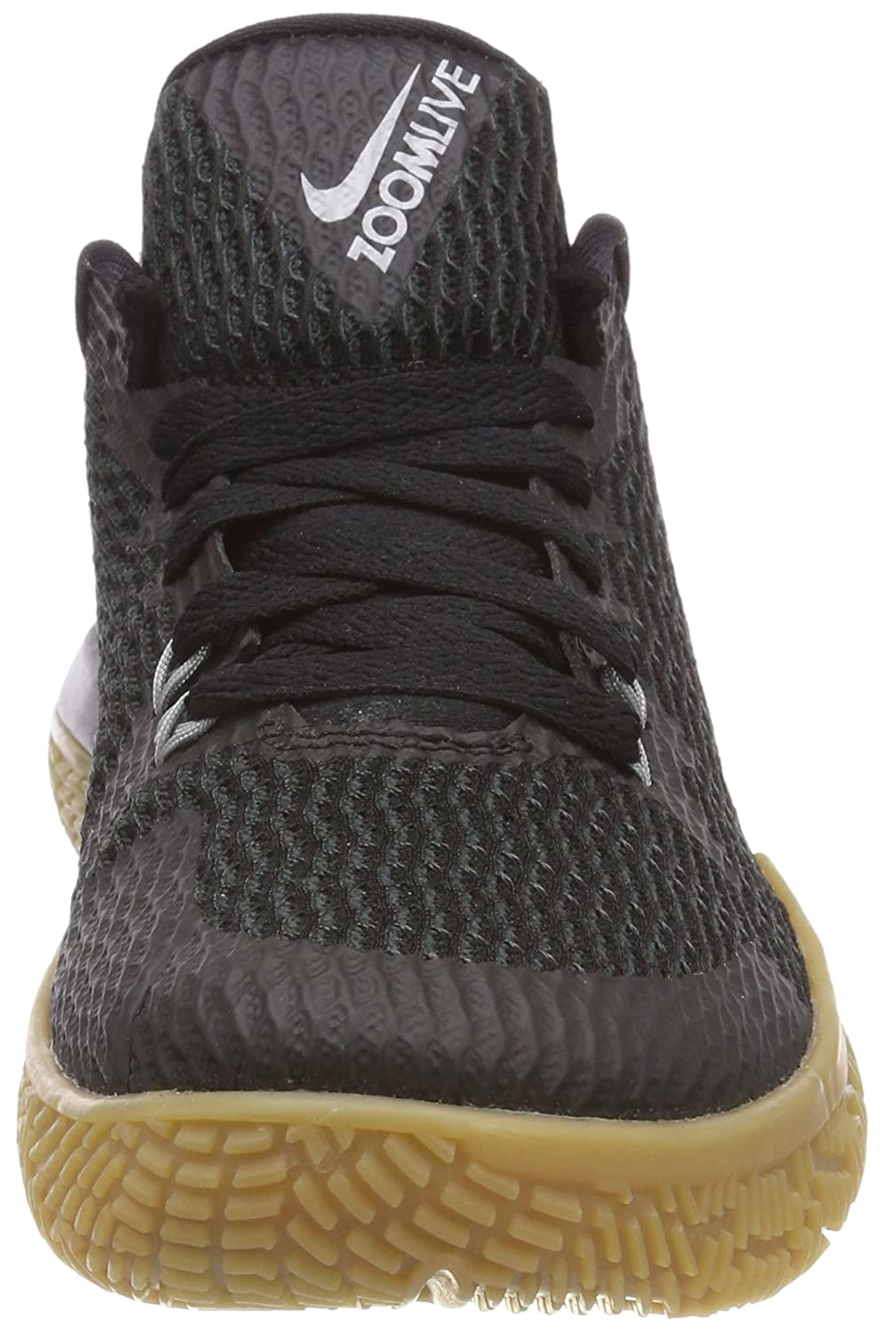 Nike Zoom Live II, Chaussures de Basketball Femme, Multicolore (Black/Anthracite/Gum Light Brown/Reflect Silver 001), 36.5 EU