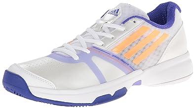 adidas Performance Women's Galaxy Allegra III Tennis Shoe, White/Flash  Orange/Night Flash