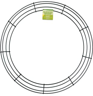 floracraft simplestyle 18 inch wire wreath green 13 gauge - Wire Wreath Frame With Ties