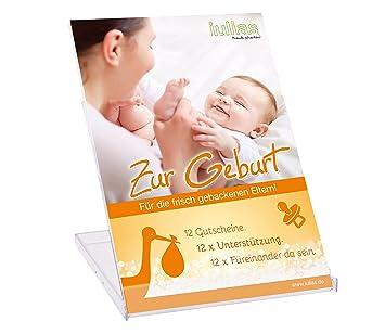 Zur Geburt » Das Geschenk zur Geburt für die Eltern. 12 Geschenkgutscheine  mit 12 liebevollen Aufmerksamkeiten. 12 x Unterstützung schenken. 12 x ...