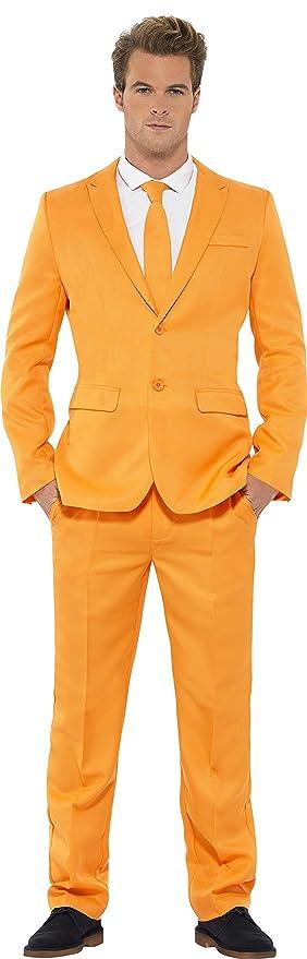 Traje Smiffys con Chaqueta / Pantalones y Corbata (Grande, Naranja ...