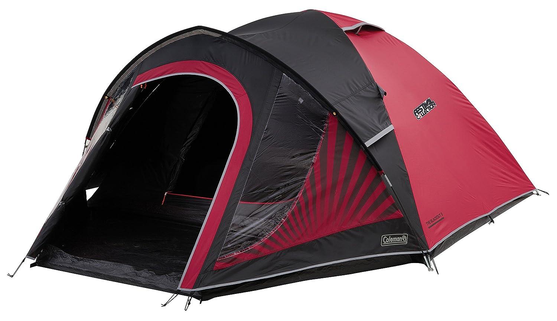 Coleman schwarzout Zelt, 3 4 Personen, 3 4 Mann Zelt, Igluzelt, Festivalzelt, Leichtes Kuppelzelt mit Vorzelt, patentierte Nachtschwarz-Schlafkabine, Wasserdicht WS 4.500 mm