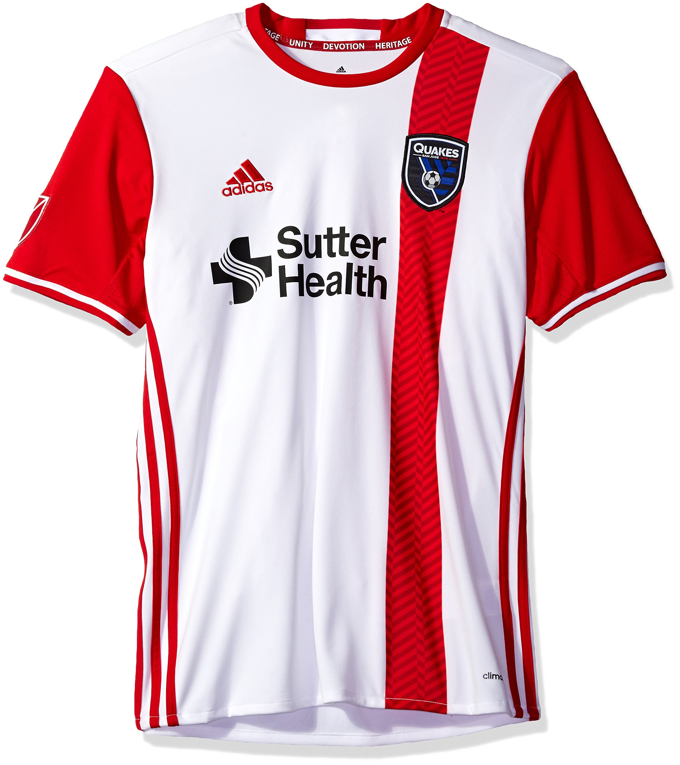 MLS San Jose Earthquakes Adult Men Replica Wordmark s/jersey,Small,White