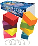 """Debra Dale Designs - 800 Small Blank Study Flash Cards - Single Hole Punched - 5 Rings - 3-1/2"""" x 2"""" - 8 Astrobrights Cardstock Colors - 100 Each Color - Premium Heavy 100# Cover Card Stock"""