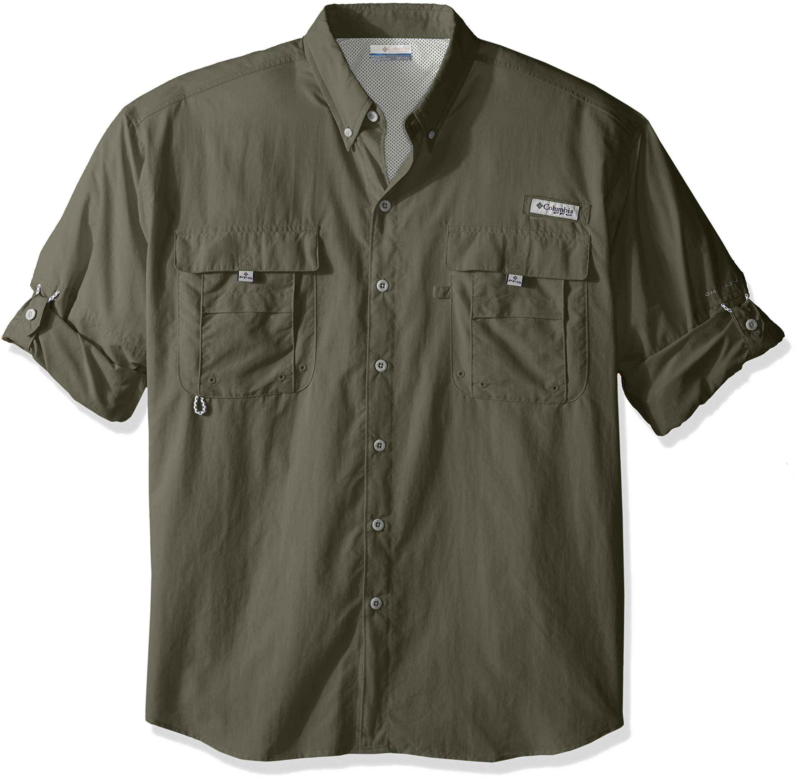 Columbia Men's Bahama II Long Sleeve Big/Tall Shirt, Cypress, Large
