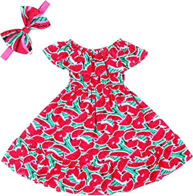 USA Kid Baby Girl Summer Boho Casual Long Party Pageant Beach Dress Sundress