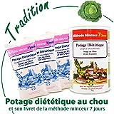 Anne Delona soupe aux choux brûle graisses méthode minceur 7 jours x 3 potage diététique. Lot de 3 sachets pour 21 jours de cure
