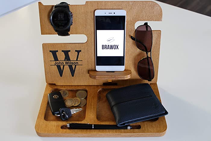 7556a659deca Amazon.com  Mens gifts IPhone Docking Station Docking Station Anniversary  Gift For Him Gifts for Boyfriend gifts for dad wood docking station   Handmade