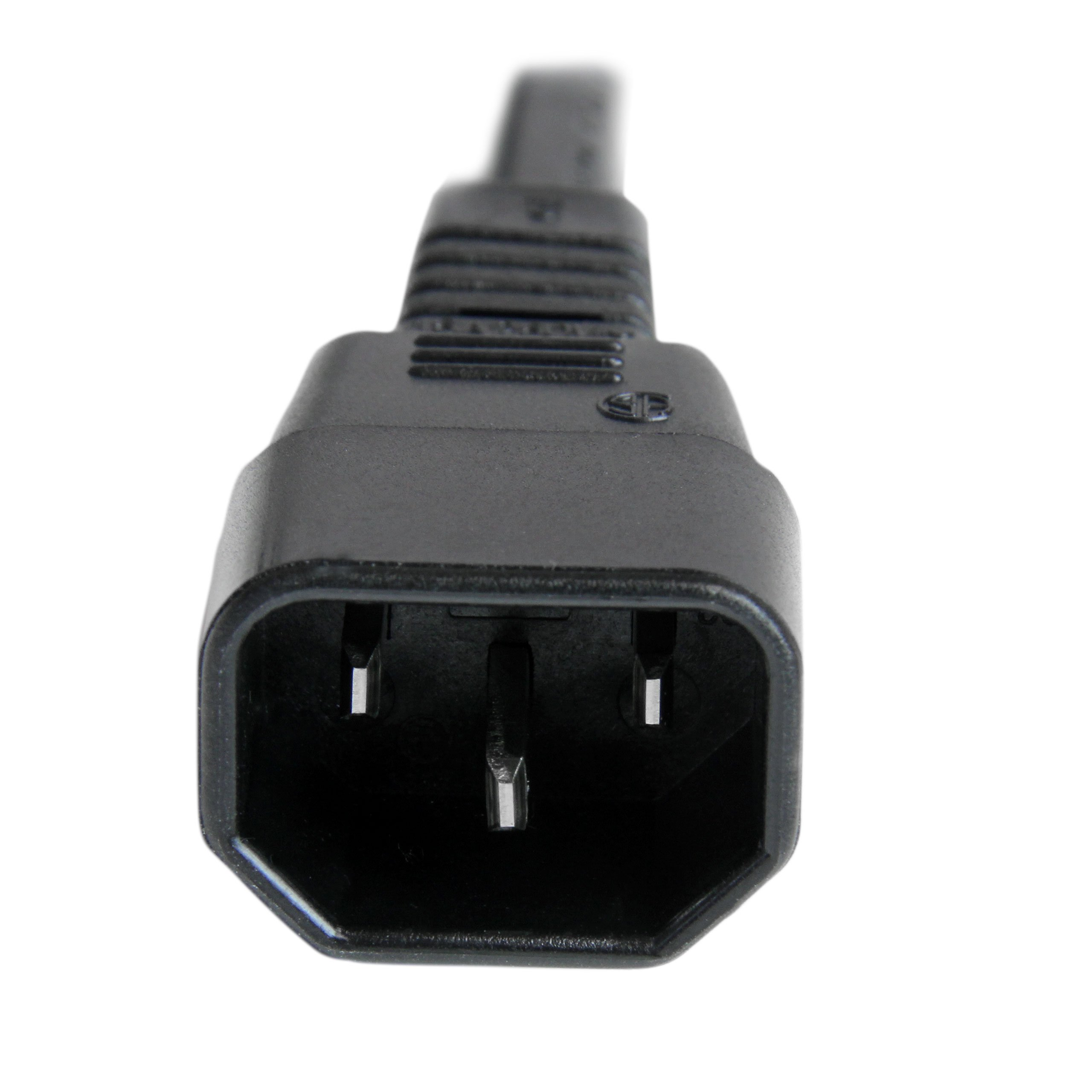 6 ft 14 AWG Computer Power Cord - IEC C14 to IEC C15 - 6 foot C14 to C15 Power Cord Cable - 14AWG 250V at 15A by StarTech (Image #3)