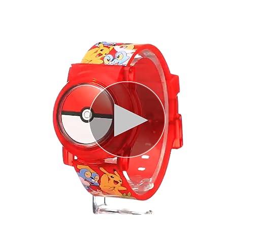 Pokemon Kids' POK3026 Digital Display Analog Quartz Multi-Color Watch